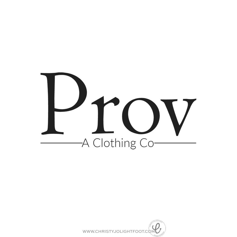 Final Logo Design For Prov Boutique, A Clothing Co. Www