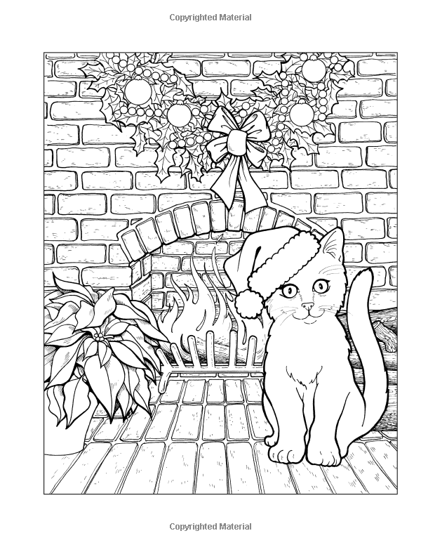 Santa S Cats Christmas Adult Coloring Book Jason Hamilton