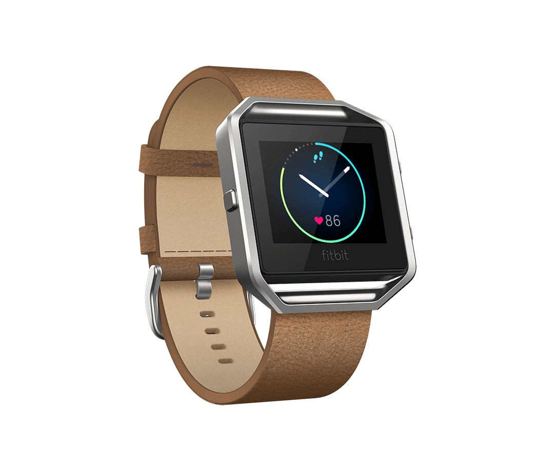 Shop Fitbit Blaze Accessories - leather band + frame in Camel leather $99