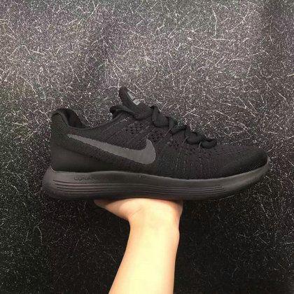 June Latest New Arrival Unisex Nike LunarEpic Low Flyknit 2 Triple Black  Cheap For Sale 088cf93c7b8a