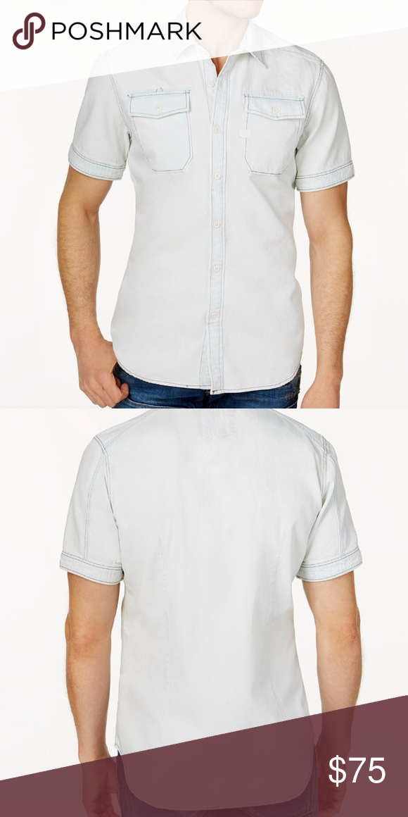 24758aa800 NWT G-STAR RAW Men s Two Pocket Shirt - Slim Fit • point collar • Two flap  pockets at chest • All cotton • Imported • Machine wash G-Star Shirts  Casual ...