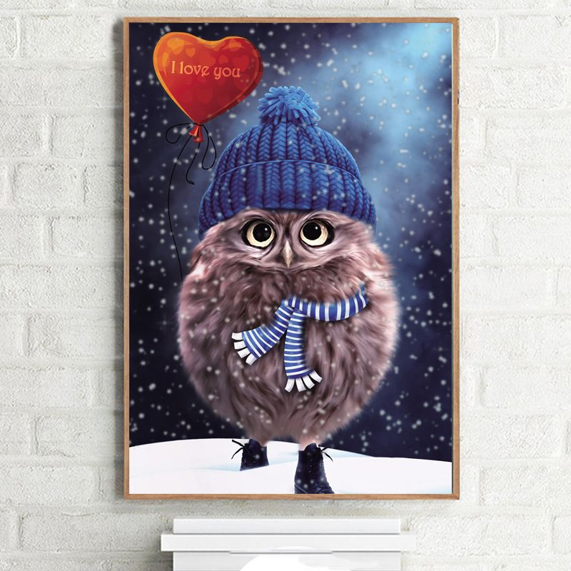 5D DIY Diamond Owl Embroidery Painting Rhinestone Cross Stitch Decor 30*30cm