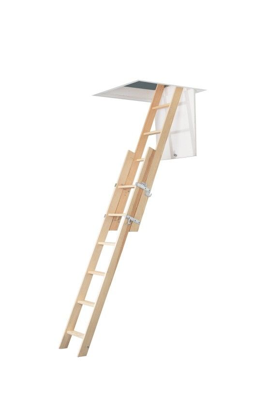 Abru Werner 2 Section Wooden Sliding Loft Ladder The only barrier to making full use of wasted attic space is gaining easy and safe access!  sc 1 st  Pinterest & Abru Werner 2 Section Wooden Sliding Loft Ladder The only barr ...