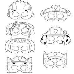Coloring Paw Patrol Masks Paw Patrol Ausmalbilder Paw Patrol Abzeichen Pfote Patrouille Geburtstag