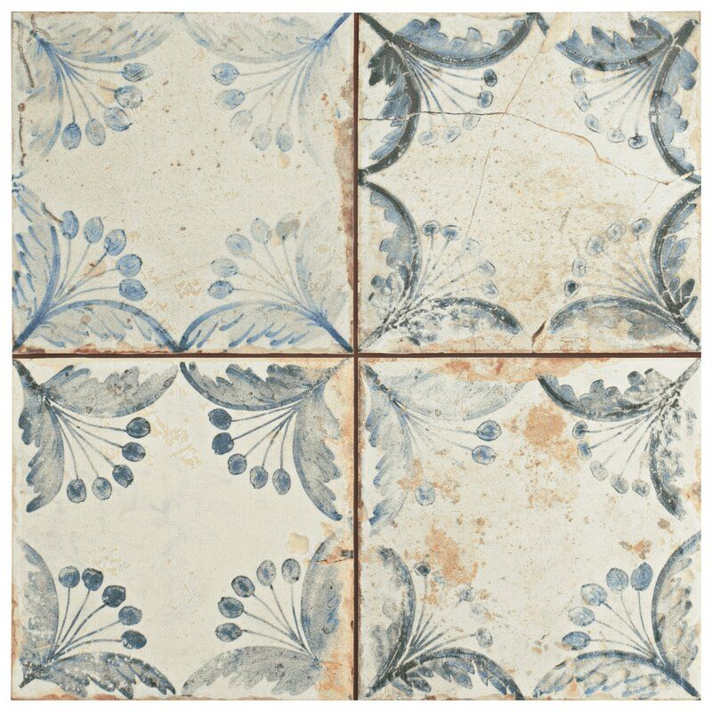 Alberta 13 X 13 Ceramic Patterned Wall Floor Tile In 2020 Ceramic Floor Floor And Wall Tile Ceramic Floor Tiles