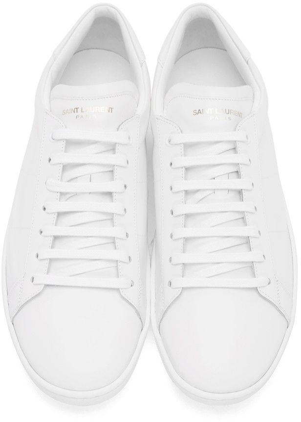 Laurent White Classic Shoes Off Sneakers Court Saint Sl01 FEIWBdpwFq
