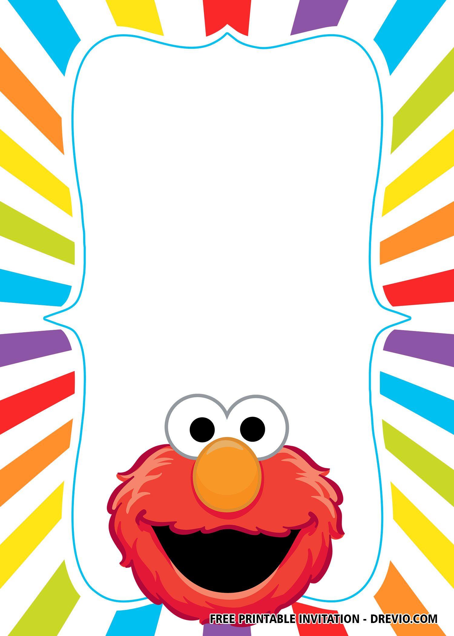 FREE Elmo Birthday Invitation Templates Elmo birthday