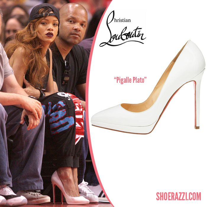 sale retailer d0078 da74c Christian Louboutin Pigalle Plato Pump on Rihanna | High ...