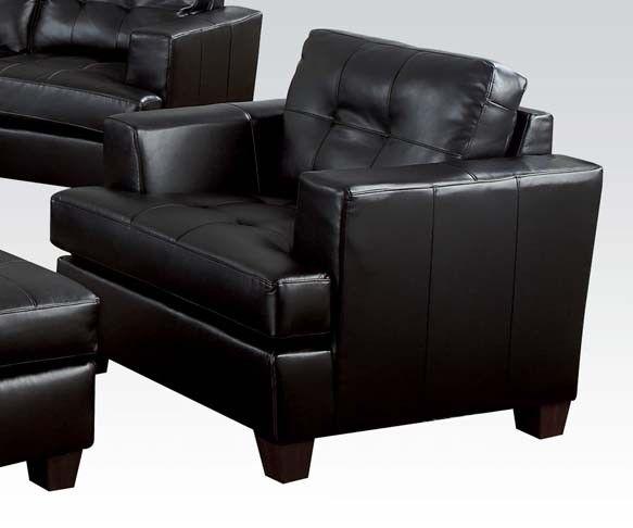 Best Acme Platinum 2 Piece Living Room Set In Black Leather 400 x 300
