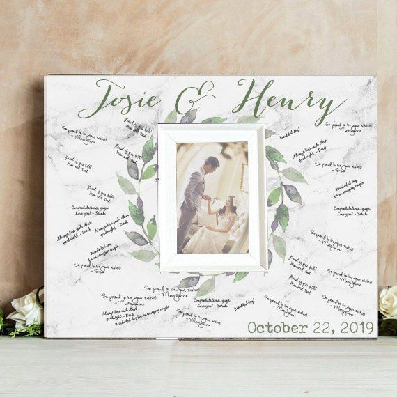 Personalized Wedding Guest Book.Greenery Wedding Guest Book Wreath Guest Book Alternative