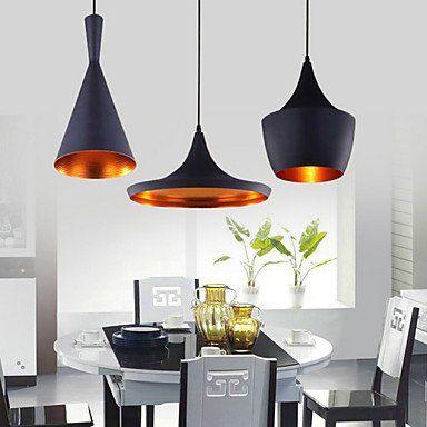 De anh nger 3 licht industrie schwarz eisen aluminium for Gunstige esszimmer lampen