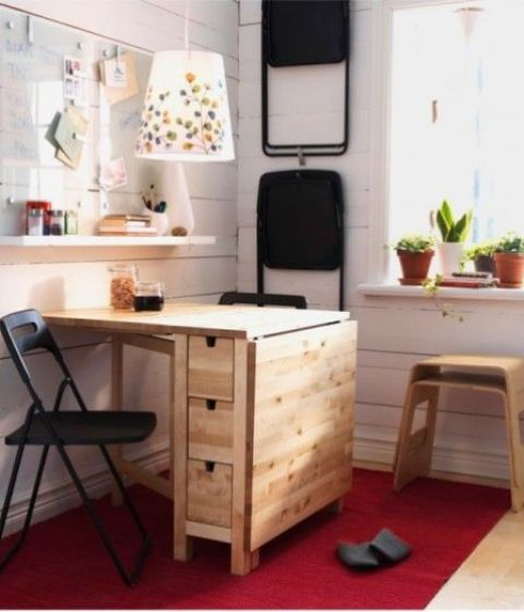 norden gateleg table as a small desk | ikea hacks | pinterest