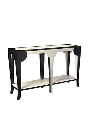 French Heritage Bellevue Curved Console, Black/White $709