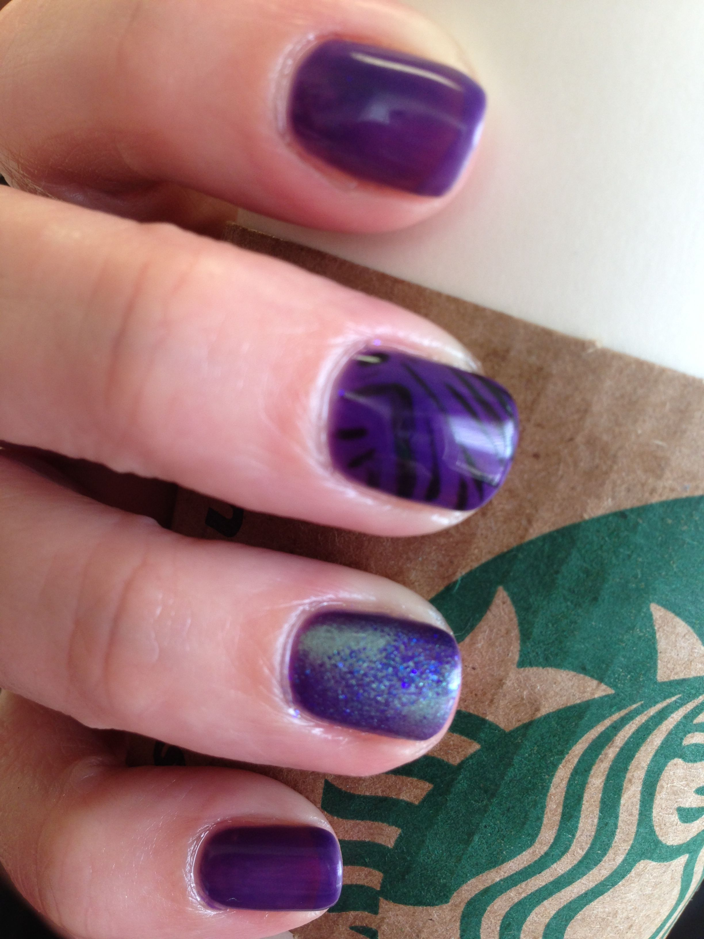 New Cnd Shellac summer color, Grape Gum with Party Nails. Love this!