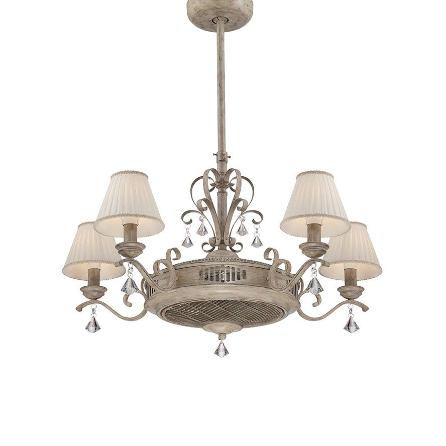 White Chandelier Ceiling Fan: Products · Fandelier 5 Light White · SAVOY HOUSE EUROPE. S