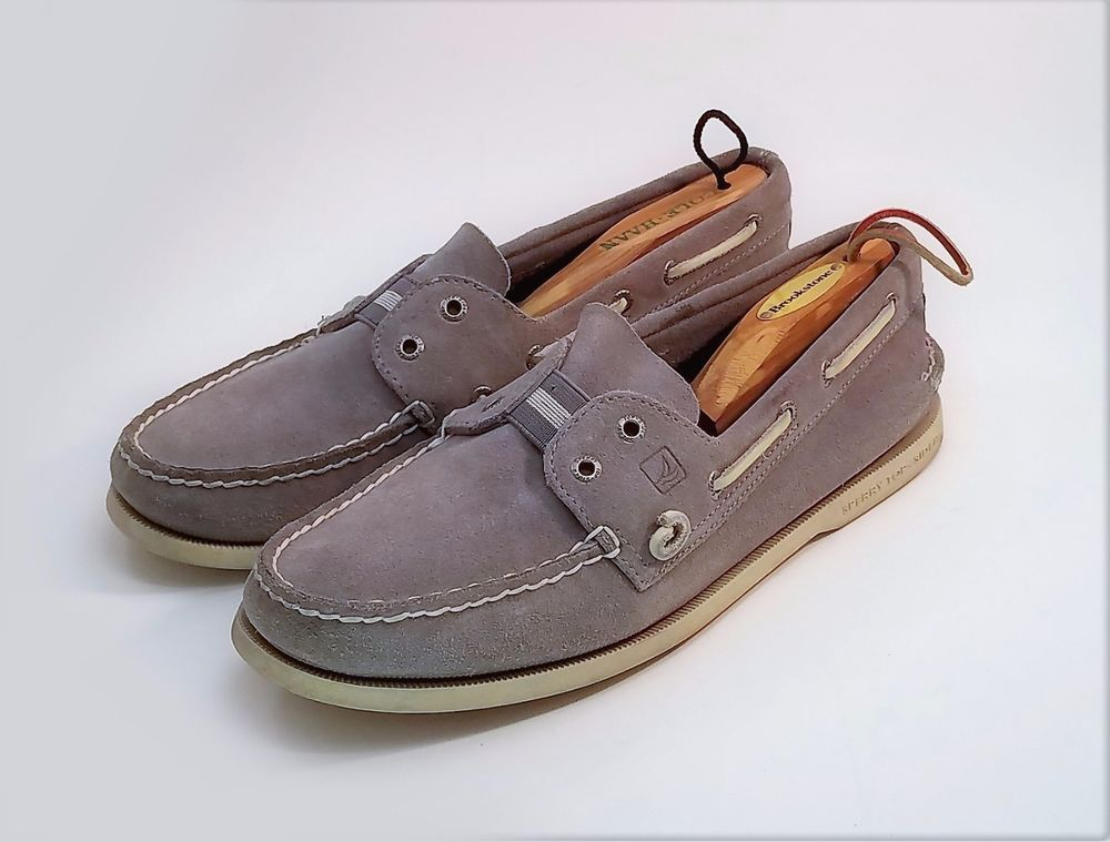 Sperry Top Sider Mens Boat Shoes Gray
