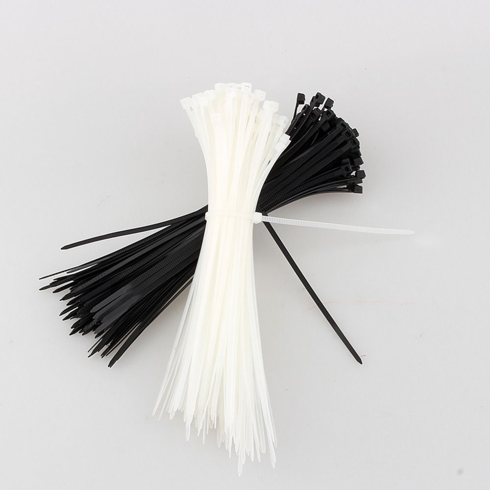 Nylon Cable Ties White Plastic Zip Wire Fastening Strap Tie Durable Wrap Packing