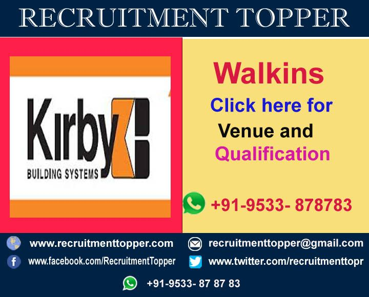 Kirby Walkins For Experienced At Hyderabad Recruitment