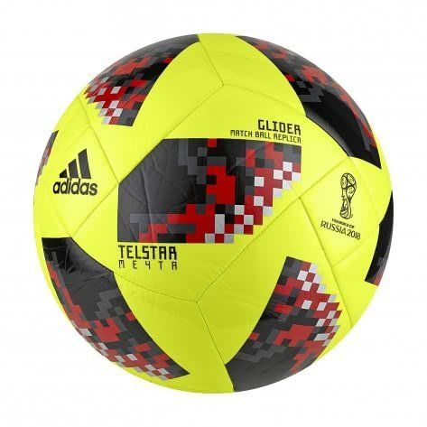 reputable site 7e61b 24449 adidas World Cup Glider Ball (Yellow, 3)   Sports   Outdoors
