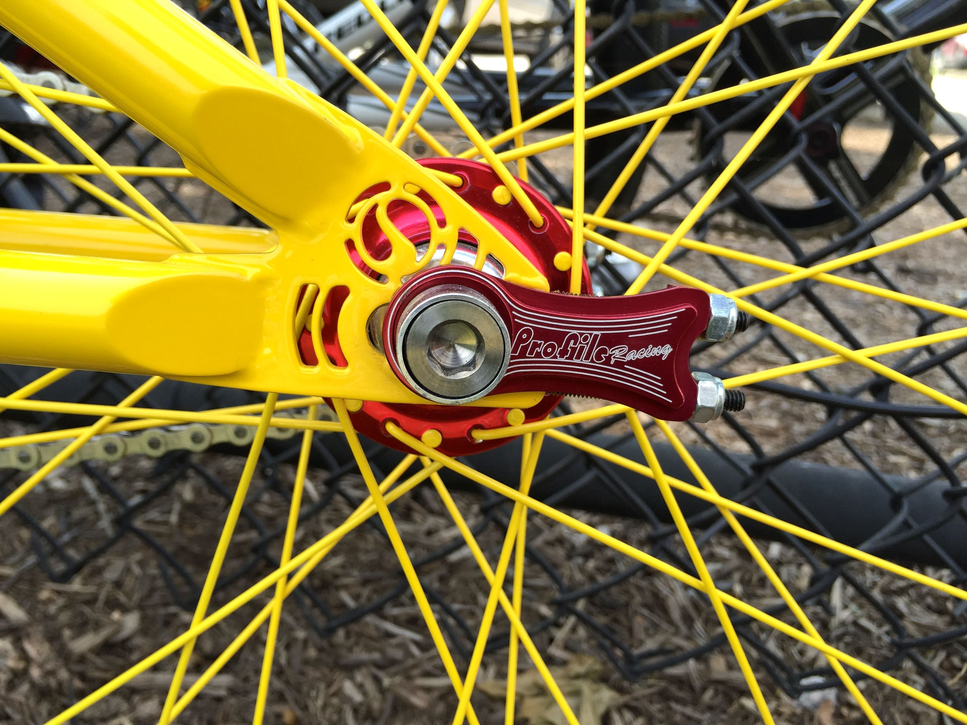 Profile Racing #madeintheusa Chain Tensioners, close-up of