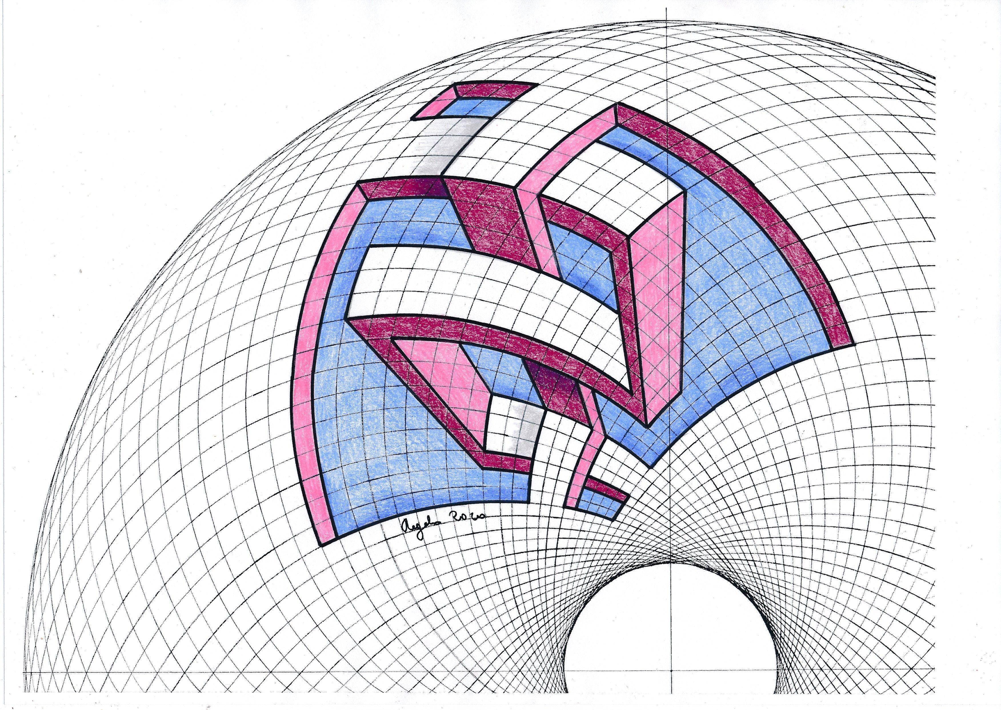 Penrose Field Pendant (Large) - Naked Geometry