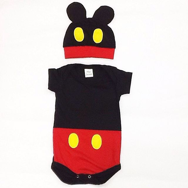 Body Mickey com touca  5e274bb08a9