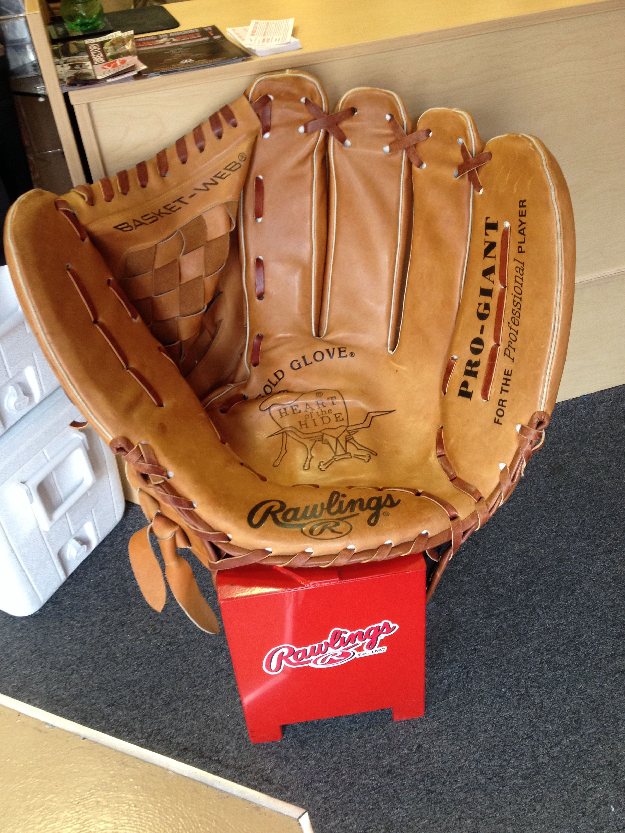 This Is A Cool Baseball Glove Chair From The Rawlings Outlet.