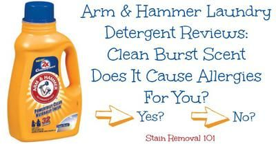 Arm And Hammer Clean Burst Detergent Does It Cause Allergic