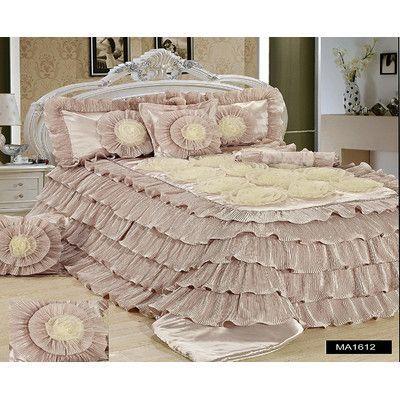 Tache Home Fashion 6 Piece Comforter Set Size California King