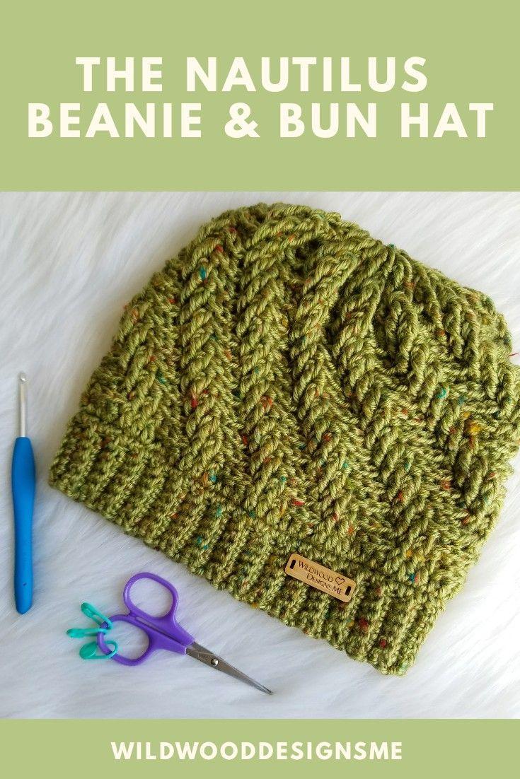 The Nautilus Beanie & Bun Hat pattern by Wildwood Designs ME ...
