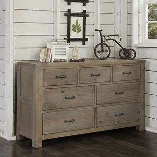 For Ne Kids Highlands Driftwood 7 Drawer Dresser Get Free Delivery At