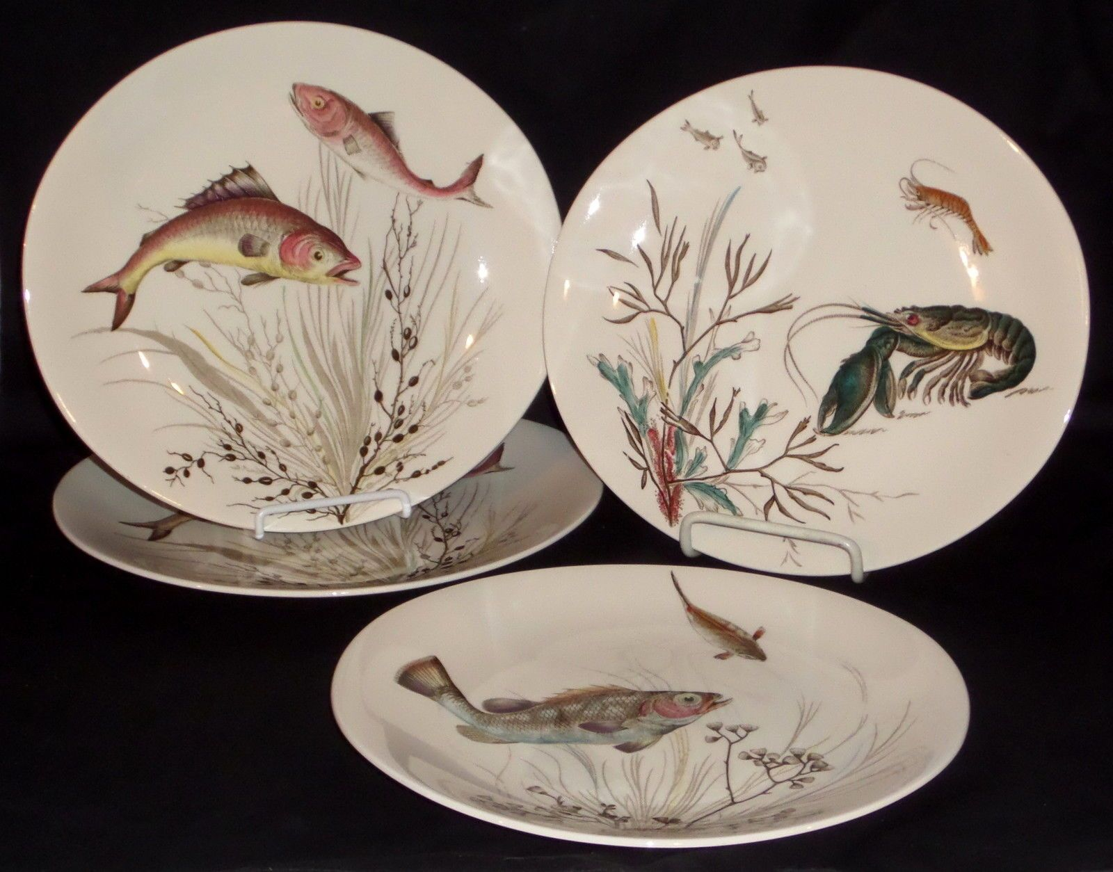 4 Johnson Bros Fish 10 1 2\  Oval Dinner Plates   eBay & 4 Johnson Bros Fish 10 1 2\