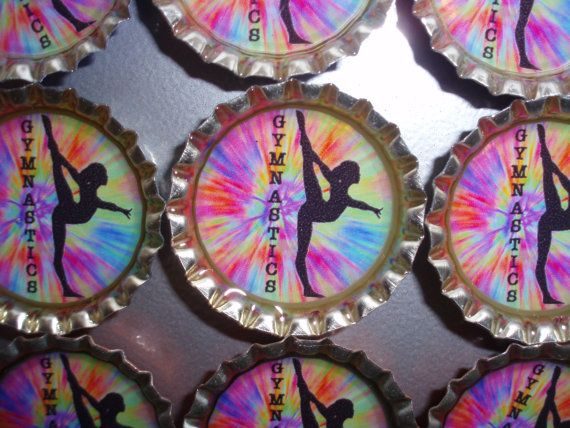 Gymnastics Tie Dyed Resin Filled Single Bottle Cap by KarynRD80, $48.00