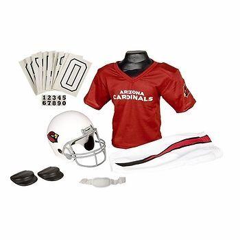 844cadf6 Arizona Cardinals NFL Football Helmet & Uniform Set w/ Shoulder Pads ...