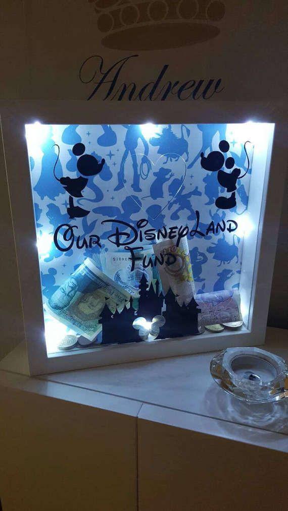 Light Up Disney Land Fund Saving Money Box Frame Crafts