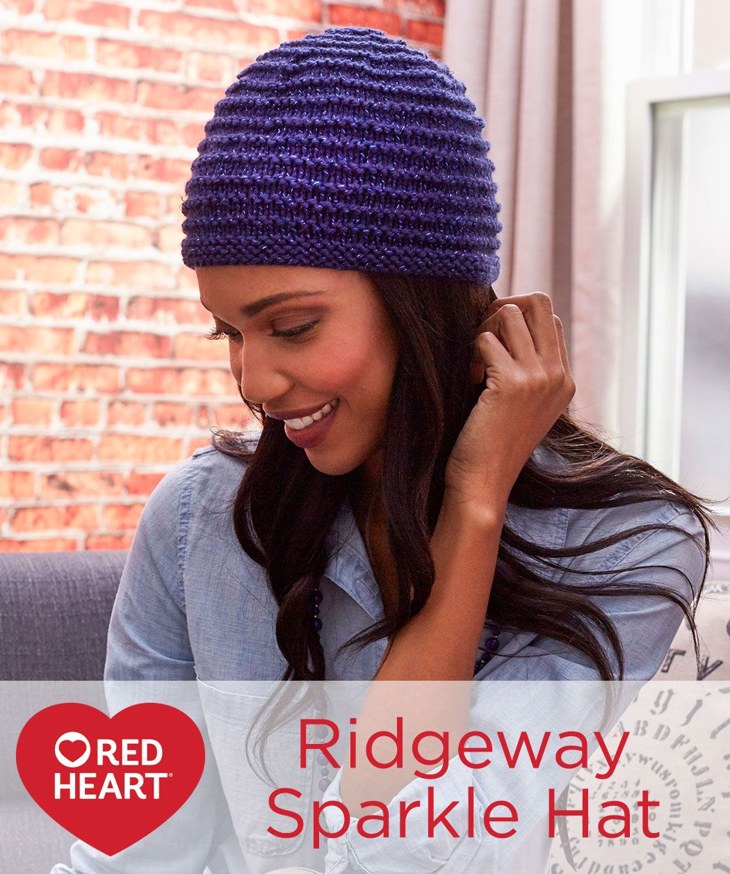 Ridgeway sparkle hat free knitting pattern in red heart yarns with 50 free easy hat knitting patterns for winter to make you have come to the right place slouchy hats bulky yarn hats beanies berets and more bankloansurffo Images