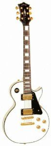 Amazon.com: Les Paul Style White Electric Guitar: Musical Instruments
