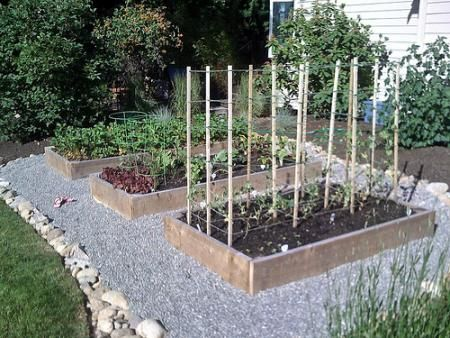 rock bed raised garden