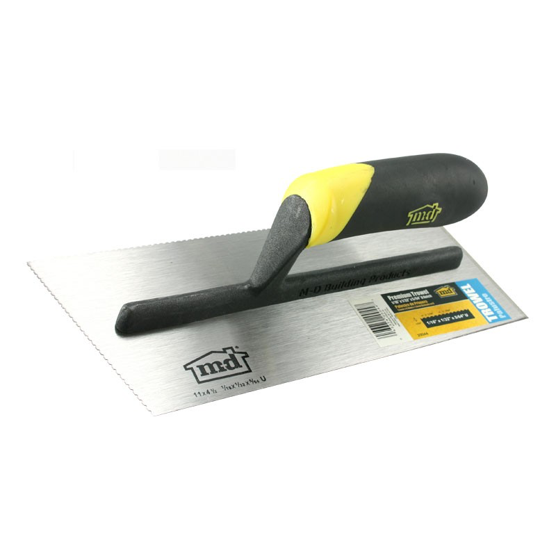 M D 20044 1 16 X 1 32 X 5 16 U Notch Trowel Trowel Tempered Steel Notch