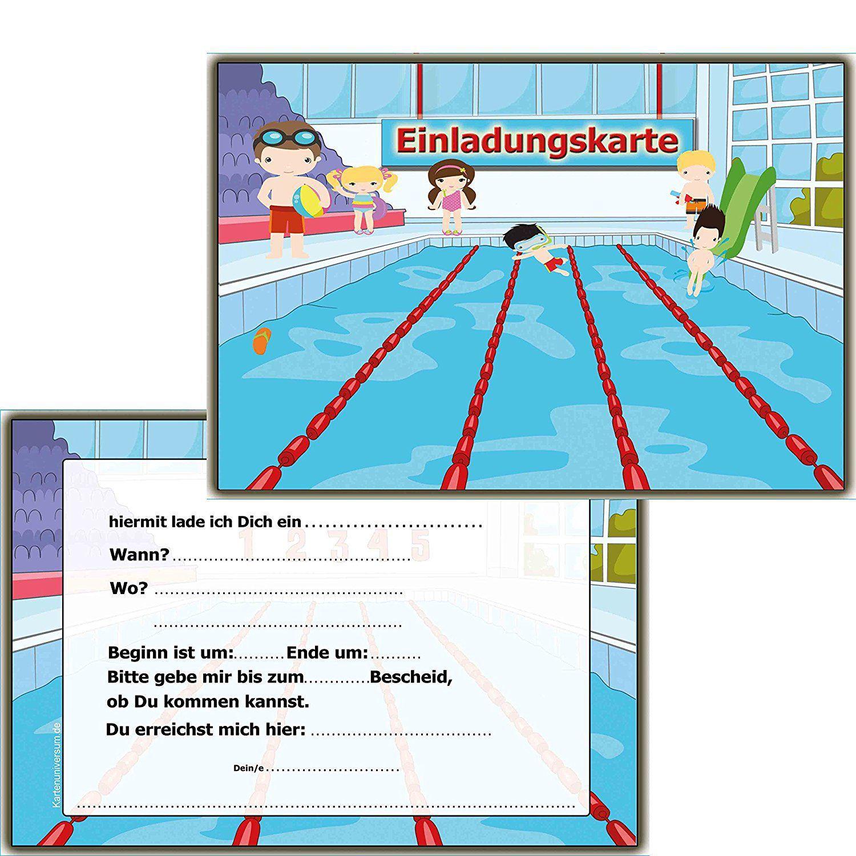 Geburtstags Einladung Schwimmbad Basteln