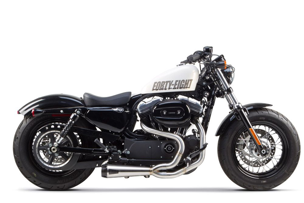 harley forty eight exhaust side shot