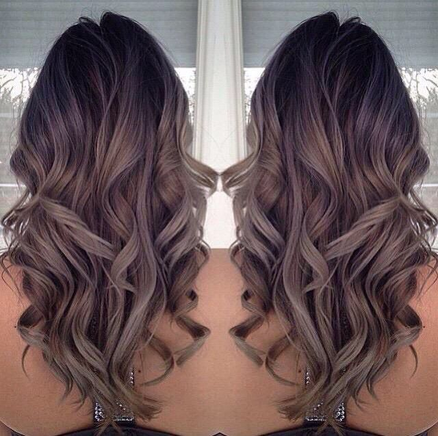 greypurplebrown ombr233 hair color inspiration