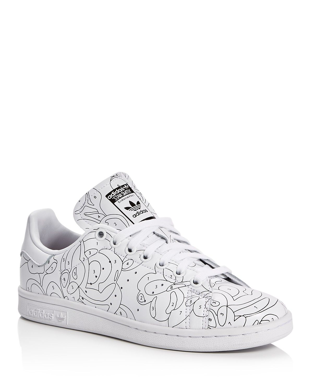 Photo of adidas Women's Stan Smith Rita Ora Color Paint Collection Lace Up Sneakers