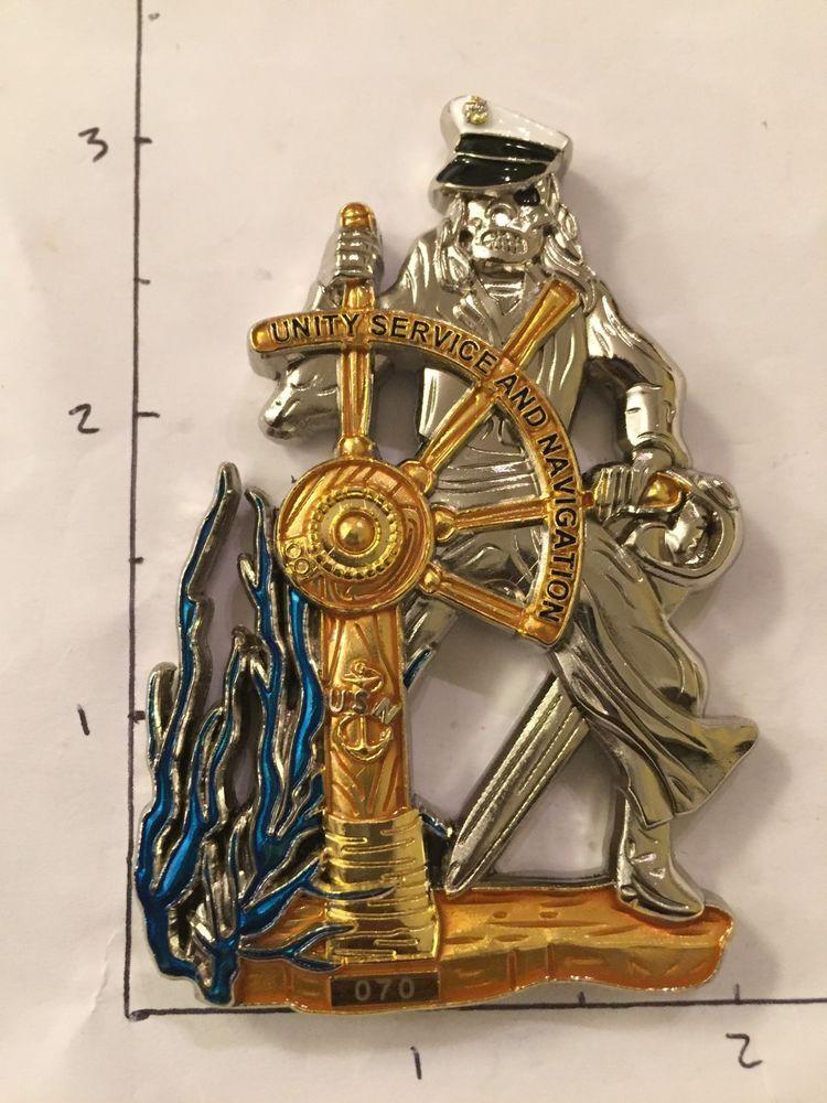 Pirate Helm Navy Cpo Challenge Coin Military Memorabilia