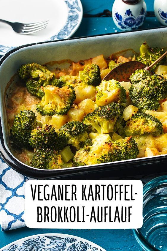 Veganer Kartoffel-Brokkoli-Auflauf #veganerezeptemittag