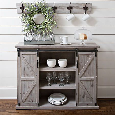 White Farmhouse Sliding Door Cabinet Kirklands Farmhouse Buffet Farmhouse Storage Cabinets Barn Door Cabinet