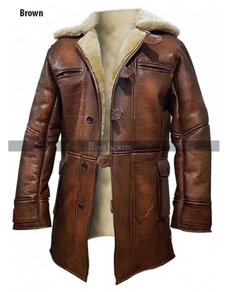 5a3ea6ff2d6 Batman The Dark Knight Rises Bane (Tom Hardy) Fur Trench Coat Bane Jacket,