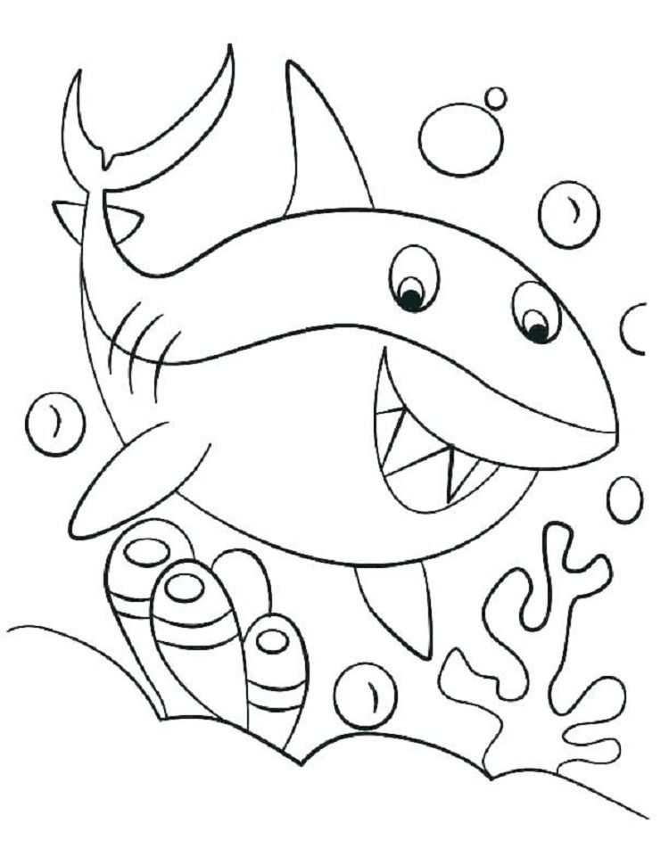 Pin By Holly Blevins On Sharks Shark Coloring Pages Coloring Pages For Boys Baby Coloring Pages