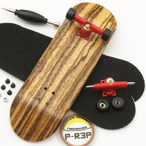 Bamboo with Bearings and Nuts P-Rep WIDE 32mm Basic Complete Wooden Fingerboard