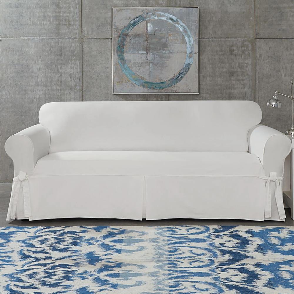Designer Twill Sofa Slipcover One